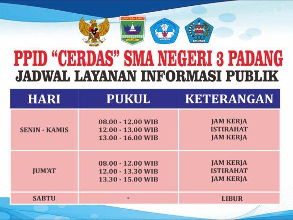Jadwal Layanan Informasi Publik